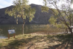 Boat launching area at Aroona Dam